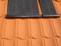 Zonnecollector op dak